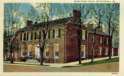 Brown-Pusey House - Elizabethtown, Kentucky KY Postcard