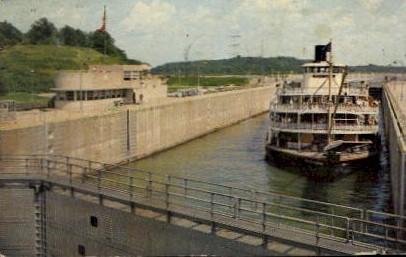 KY Dam Locks - Gilbertsville, Kentucky KY Postcard