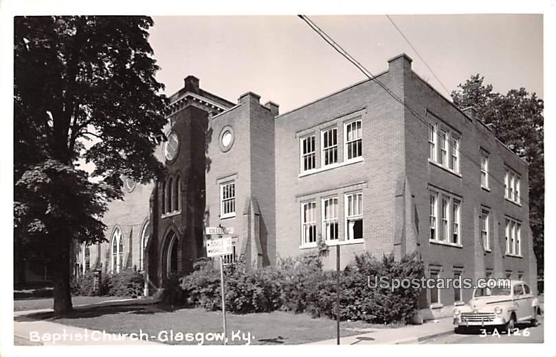 Baptist Church - Glasgow, Kentucky KY Postcard