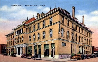 Latham Hotel - Hopkinsville, Kentucky KY Postcard