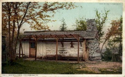 Boone's Cabin - High Bridge, Kentucky KY Postcard