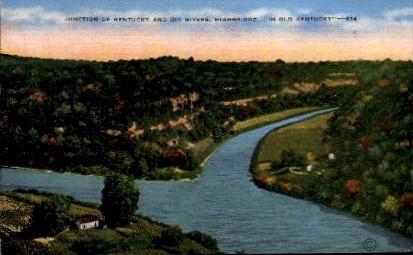 Junction of Dix and KY Rivers - High Bridge, Kentucky KY Postcard