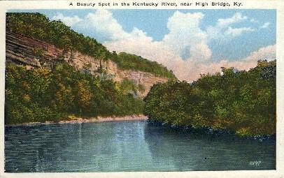 KY River - High Bridge, Kentucky KY Postcard