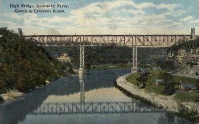 High Bridge, KY River, - Kentucky KY Postcard