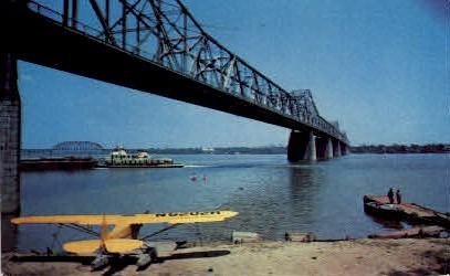 George Rogers Clark Memorial Bridge - Louisville, Kentucky KY Postcard