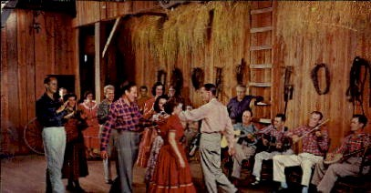 Old-Time Square Dancing - Lexington, Kentucky KY Postcard