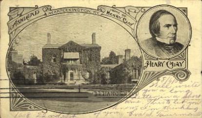 Home of Henry Clay - Lexington, Kentucky KY Postcard