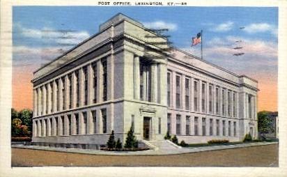 Post Office - Lexington, Kentucky KY Postcard