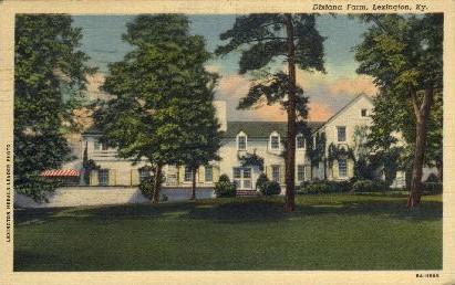 Dixiana Farm - Lexington, Kentucky KY Postcard