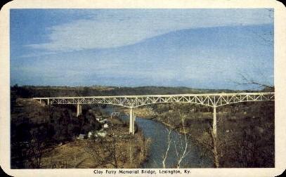 Clay Ferry Memorial Bridge - Lexington, Kentucky KY Postcard