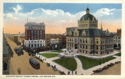 Fayette County Court House - Lexington, Kentucky KY Postcard