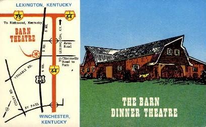 The Barn Dinner Theatre - Lexington, Kentucky KY Postcard