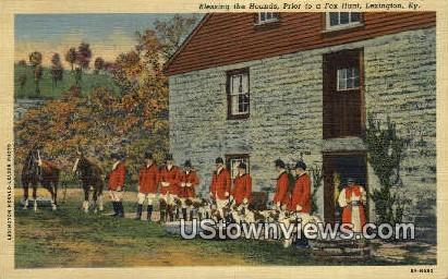 Blessing The Hounds - Lexington, Kentucky KY Postcard