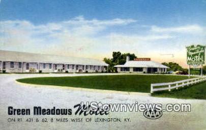 Gren Meadows Motel - Lexington, Kentucky KY Postcard