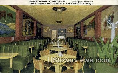Golden Horseshoe Restaurant, Linen - Lexington, Kentucky KY Postcard