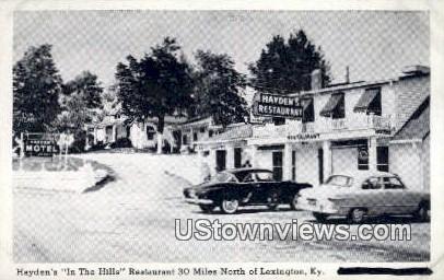 In The Hills Restaurant - Lexington, Kentucky KY Postcard