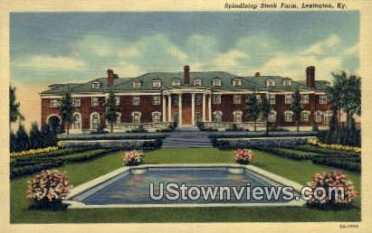 Spindle Top Stock Farm - Lexington, Kentucky KY Postcard