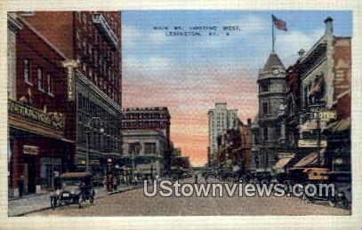 Main Street - Lexington, Kentucky KY Postcard