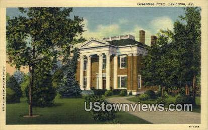Greentree Farm - Lexington, Kentucky KY Postcard