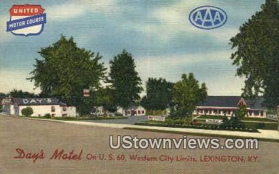 Days Motel, Linen - Lexington, Kentucky KY Postcard