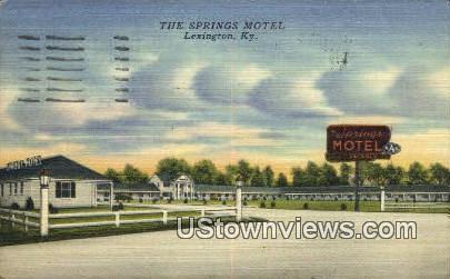 The Springs Motel - Lexington, Kentucky KY Postcard