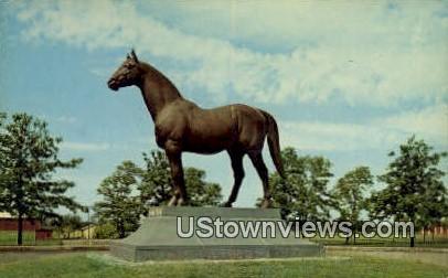 Man O War Statue - Lexington, Kentucky KY Postcard