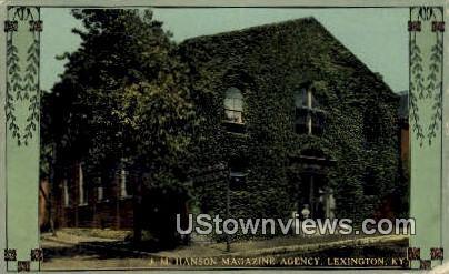 Jm Hanson's Magazine Agency - Lexington, Kentucky KY Postcard