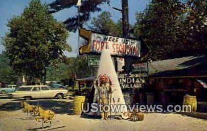 Ancient Indian Village - Lexington, Kentucky KY Postcard