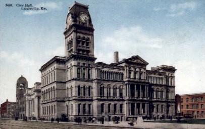 City Hall - Louisville, Kentucky KY Postcard