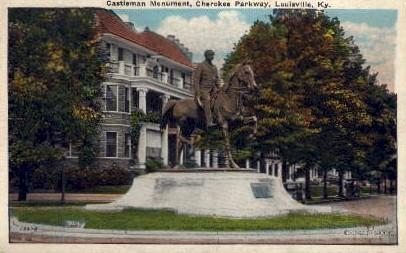 Castleman Monument, Cherokee Parkway - Louisville, Kentucky KY Postcard