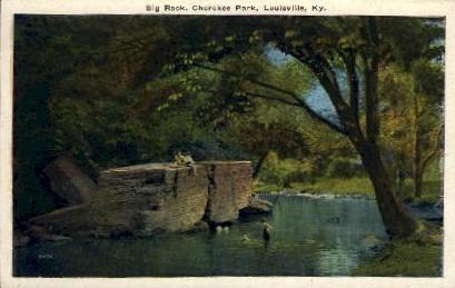 Big Rock, Cherokee Park - Louisville, Kentucky KY Postcard