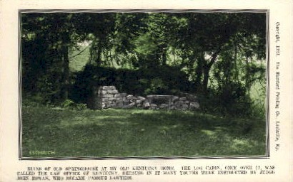 Ruins of Old Springhouse - Louisville, Kentucky KY Postcard