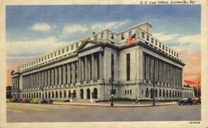 U.S. Post Office - Louisville, Kentucky KY Postcard