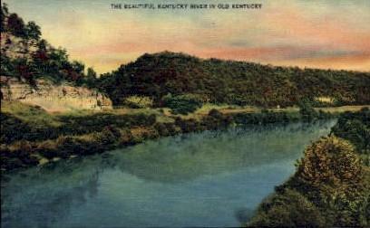KY River - Louisville, Kentucky KY Postcard
