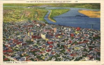 Business District - Louisville, Kentucky KY Postcard
