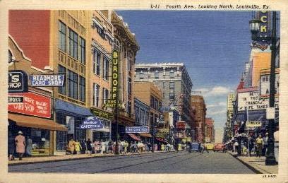 4th Ave. - Louisville, Kentucky KY Postcard