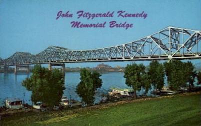 John Fitzgerald Kennedy Memorial Bridge - Louisville, Kentucky KY Postcard