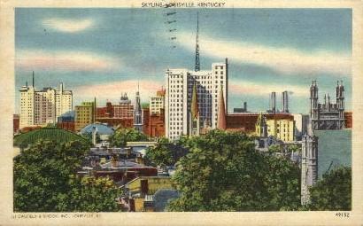 Skyline - Louisville, Kentucky KY Postcard