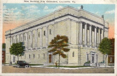 New Scottish Rite Cathedral - Louisville, Kentucky KY Postcard