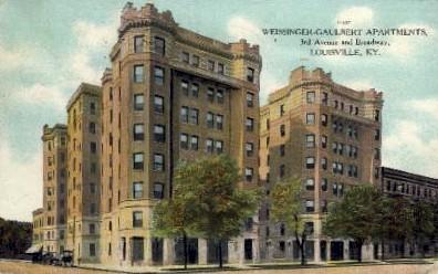 Weissinger-Gaulbert Apartments - Louisville, Kentucky KY Postcard