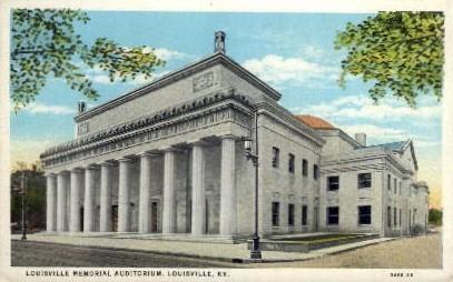 Louisville Memorial Auditorium - Kentucky KY Postcard