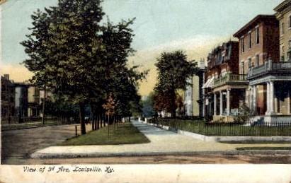Third Avenue - Louisville, Kentucky KY Postcard