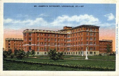 St. Joseph's Infirmary - Louisville, Kentucky KY Postcard