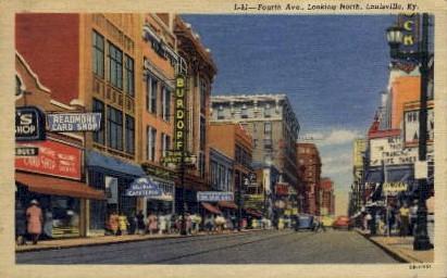 Fourth Avenue - Louisville, Kentucky KY Postcard