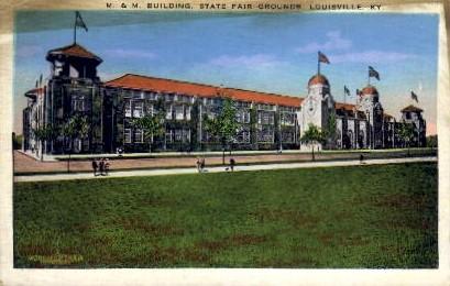 M. & M. Building, State Fair Grounds - Louisville, Kentucky KY Postcard