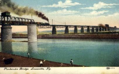 Panhandle Bridge - Louisville, Kentucky KY Postcard