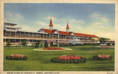 Grand Stand at Churchill Downs - Louisville, Kentucky KY Postcard