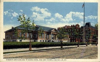 Masonic Widows and Orphans Home - Louisville, Kentucky KY Postcard