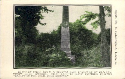Grave of Judge and U.S. Senator - Louisville, Kentucky KY Postcard