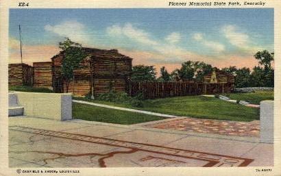 Pioneer Memorial State Park - Louisville, Kentucky KY Postcard